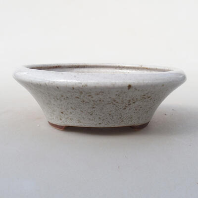 Keramická bonsai miska 12,5 x 12,5 x 4 cm, barva bílá - 1