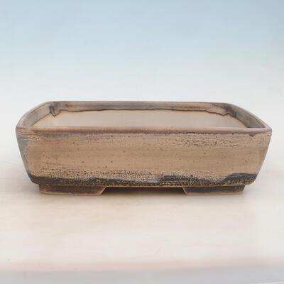 Bonsai miska 30 x 22 x 8 cm, barva šedobéžová - 1