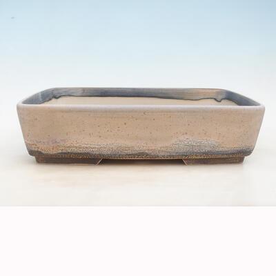 Bonsai miska 37 x 26 x 9,5 cm, barva šedobéžová - 1
