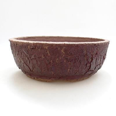 Keramická bonsai miska 20 x 20 x 7 cm, barva praskaná - 1