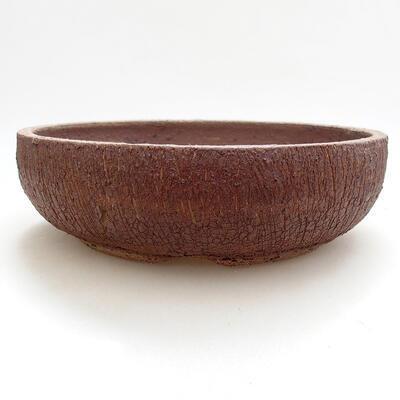 Keramická bonsai miska 21 x 21 x 6 cm, barva praskaná - 1