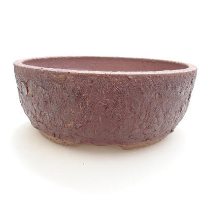 Keramická bonsai miska 19,5 x 19,5 x 7,5 cm, barva praskaná - 1