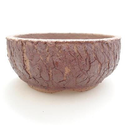 Keramická bonsai miska 14,5 x 14,5 x 6,5 cm, barva praskaná - 1