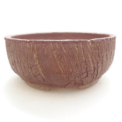 Keramická bonsai miska 17 x 17 x 7,5 cm, barva praskaná - 1