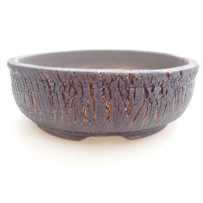 Keramická bonsai miska 18 x 18 x 6 cm, barva praskaná - 1