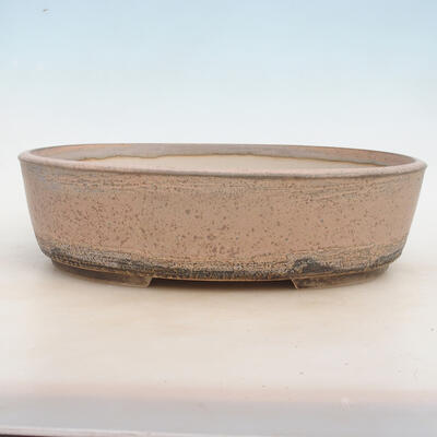Bonsai miska 33,5 x 26 x 9,5 cm, barva šedobéžová - 1