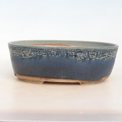 Bonsai miska 30 x 23 x 10 cm, barva modrozelená - 1