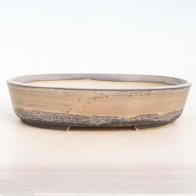 Bonsai miska 33 x 25 x 7,5 cm, barva šedobéžová - 1