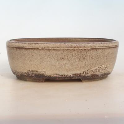Bonsai miska 27 x 20 x 9 cm, barva šedobéžová - 1
