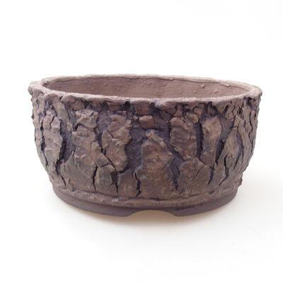 Keramická bonsai miska 17 x 17 x 8 cm, farba praskanie - 1