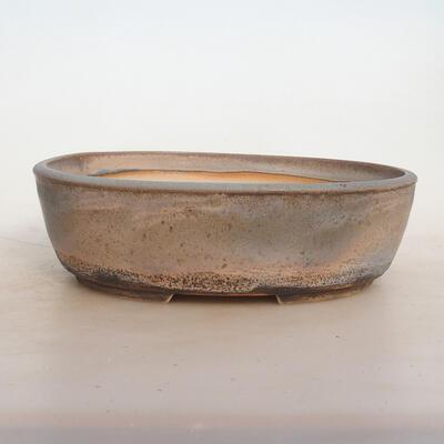 Bonsai miska 24 x 19 x 7 cm, barva šedobéžová - 1