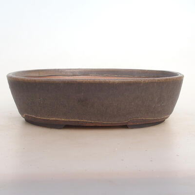 Bonsai miska 26 x 20 x 7,5 cm, barva hnědá - 1
