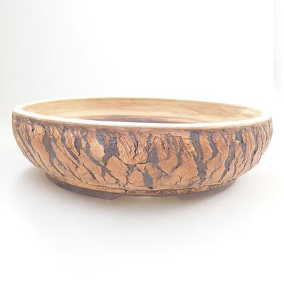Keramická bonsai miska 28,5 x 28,5 x 7,5 cm, barva praskaná - 1