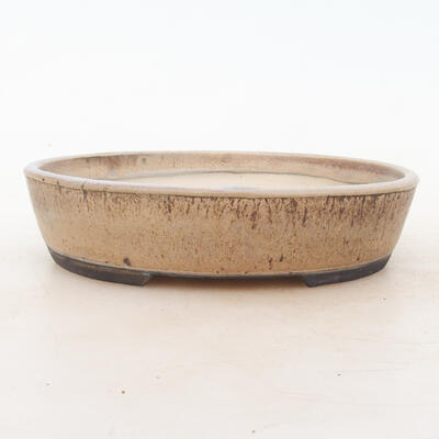 Bonsai miska 19 x 15 x 4,5 cm, barva hnědobéžová - 1