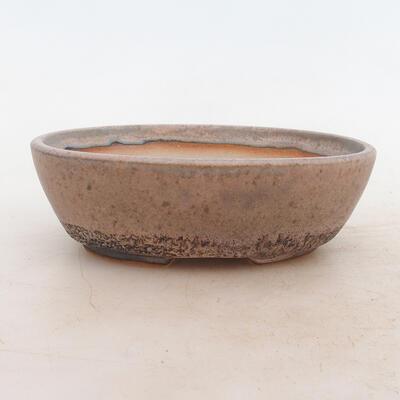 Bonsai miska 16 x 11 x 5 cm, barva šedobéžová - 1