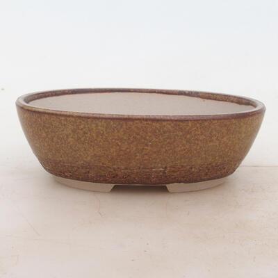 Bonsai miska 16 x 11 x 5 cm, barva hnědá - 1