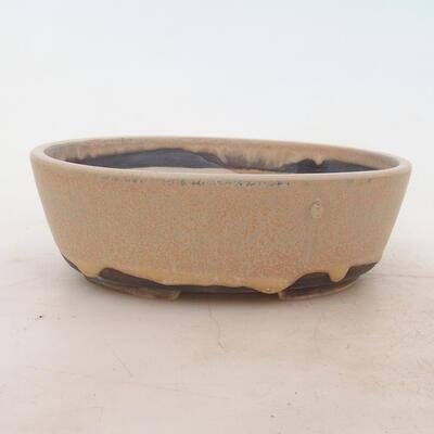 Bonsai miska 18 x 13 x 6 cm, barva béžová - 1