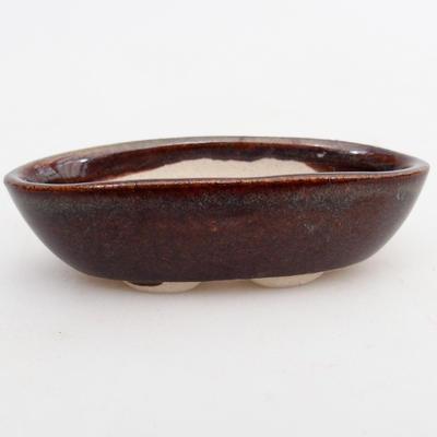 Mini bonsai miska 7 x 3,5 x 2 cm, barva hnědá - 1