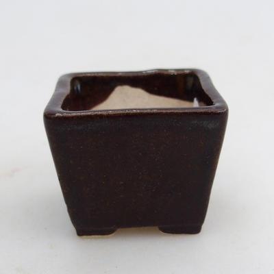 Mini bonsai miska 3,5 x 3,5 x 2,5 cm, farba hnedá - 1