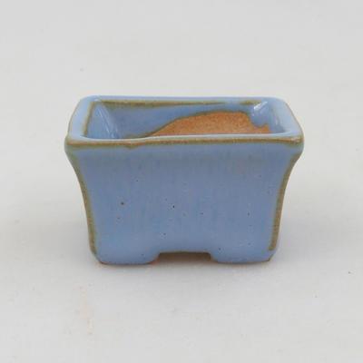 Mini bonsai miska 4 x 3 x 2,5 cm, farba modrá - 1