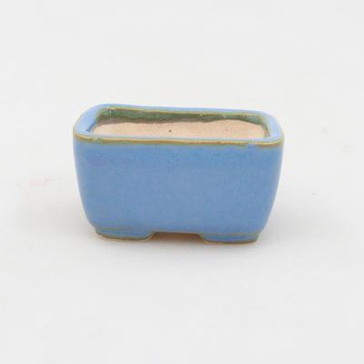 Mini bonsai miska 4,5 x 3 x 2,5 cm, farba modrá - 1