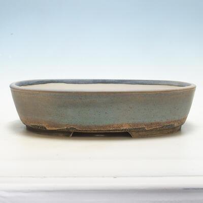 Bonsai miska 31 x 24 x 8 cm, barva šedobéžová - 1