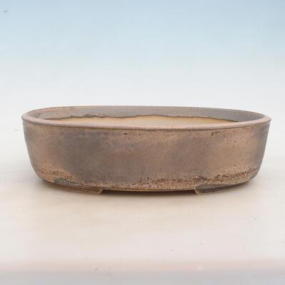 Bonsai miska 32 x 24 x 8,5 cm, barva šedobéžová - 1