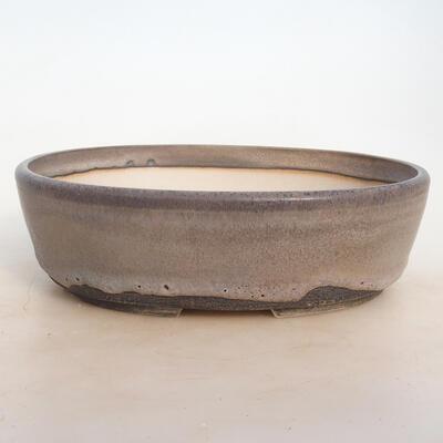 Bonsai miska 25 x 19,5 x 7,5 cm, barva šedobéžová - 1