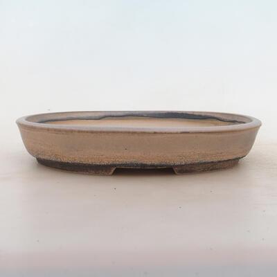 Bonsai miska 24 x 19 x 4,5 cm, barva šedobéžová - 1