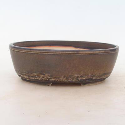 Bonsai miska 22 x 17 x 7 cm, barva hnědá - 1