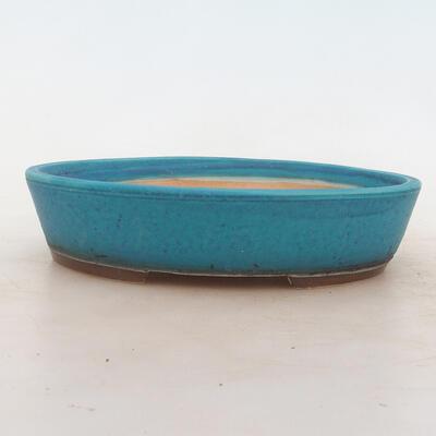Bonsai miska 20 x 15 x 4,5 cm, barva modrá - 1