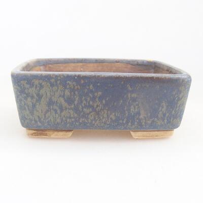 Keramická bonsai miska 9,5 x 8 x 3,5 cm, farba modrá - 1