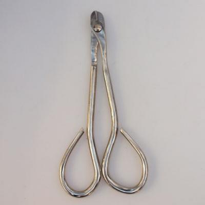 Bonsai náradie - Nožnice na drôt 19 cm strieborné - 1