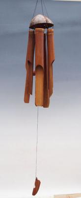 Bambusová zvonkohra tmavá 100 cm