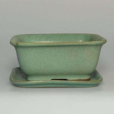 Bonsai miska + podmiska H38 - miska 12 x 10 x 5,5 cm, podmiska 12 x 10 x 1 cm - 1