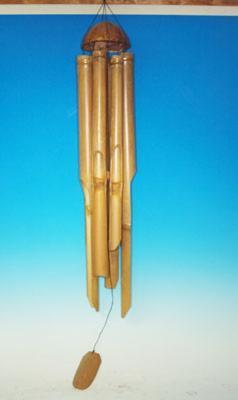 Bambusová zvonkohra světlá160 cm