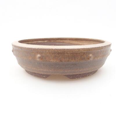 Keramická bonsai miska 17,5 x 17,5 x 5 cm, barva hnědá - 1