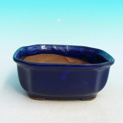 Keramická bonsai miska H 31, modrá - 1