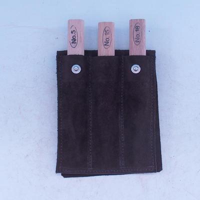 Sada dlát 3 ks  v koženém pouzdře - NO18,NO15,NO5 - 1