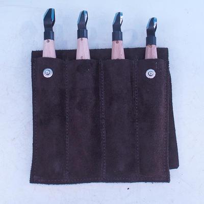 Súprava dlát 4 ks v koženom púzdre - NO18, NO15, No5, NO22 - 1