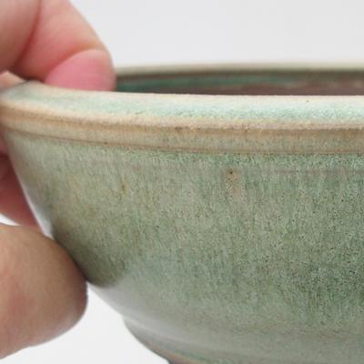 Keramická bonsai miska 16 x 16 x 5,5 cm, barva zelená - 2