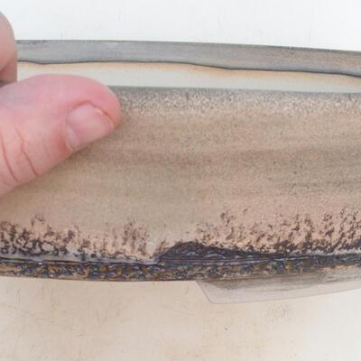 Bonsai miska 33 x 24,5 x 7 cm, barva šedobéžová - 2