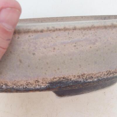 Bonsai miska 22 x 17 x 6 cm, barva šedobéžová - 2