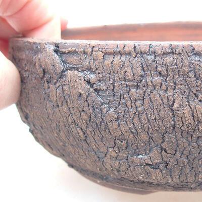 Keramická bonsai miska 15 x 15 x 6 cm, farba praskanie - 2