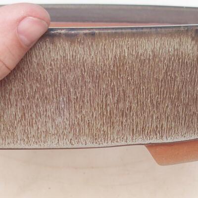 Bonsai miska 34,5 x 25,5 x 7 cm, farba hnedosivá - 2