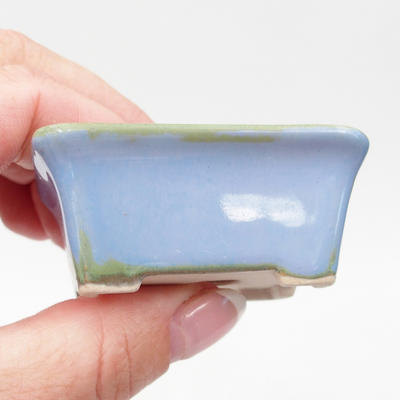 Mini bonsai miska 6 x 4,5 x 2,5 cm, farba modrá - 2