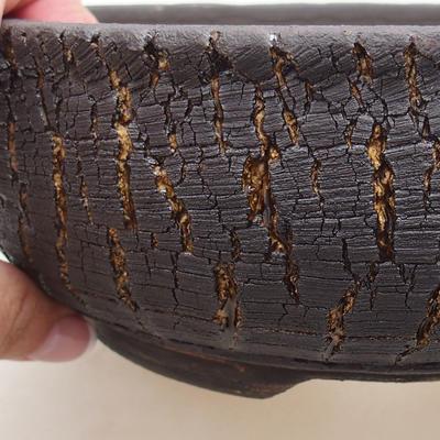 Keramická bonsai miska 19,5 x 19,5 x 7 cm, barva praskaná - 2