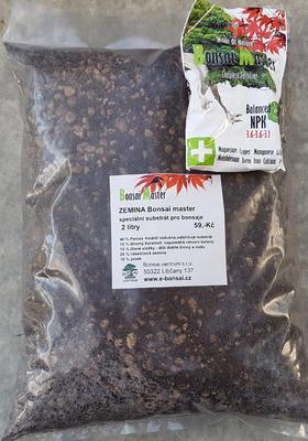Zemina na bonsaje Bonsai Master 2 litre + hnojivo 20 g zadarmo - 2