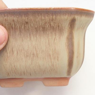 Bonsai miska 11 x 11 x 6,5 cm, barva hnědobéžová - 2