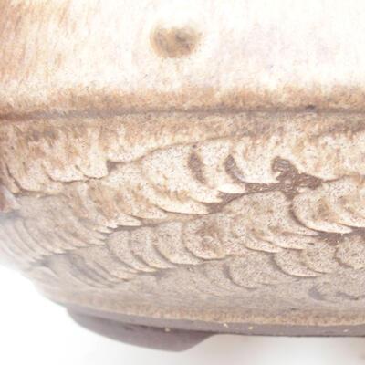 Keramická bonsai miska 18,5 x 18,5 x 7 cm, barva hnědá - 2